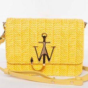 J.W. Anderson Raffia Anchor Logo Bag